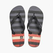 Reef Switchfoot Prints grey/red/black férfi papucs